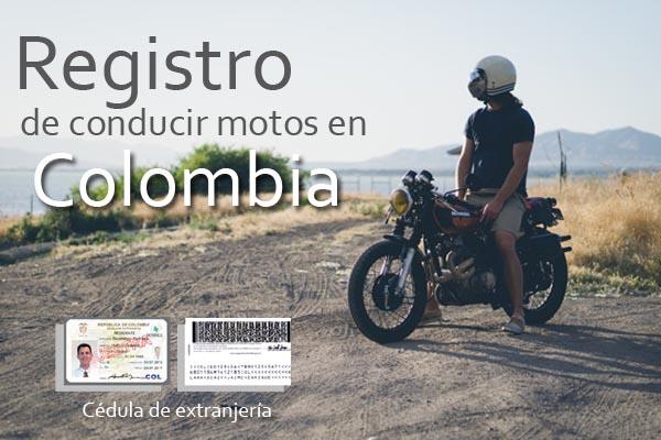 registro de conducir moto en colombia
