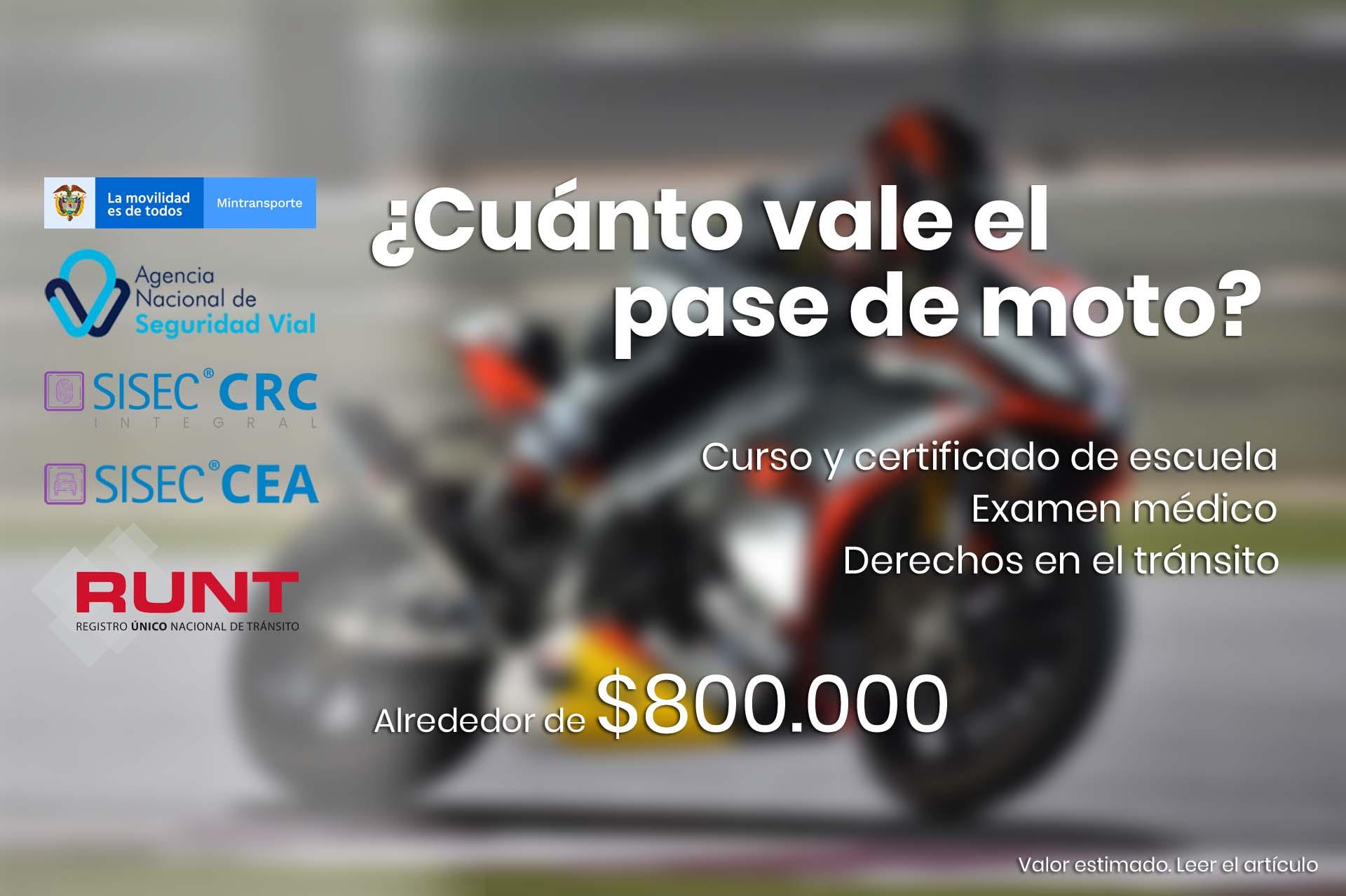 Cuanto Vale El Pase De Moto 2021 Lea La Informacion Y Cotice