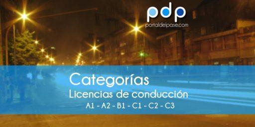categorias licencias de conduccion