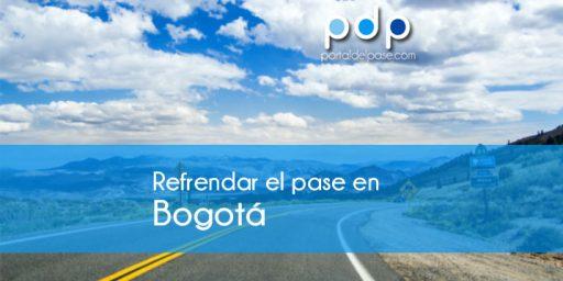 refrendar el pase en Bogota