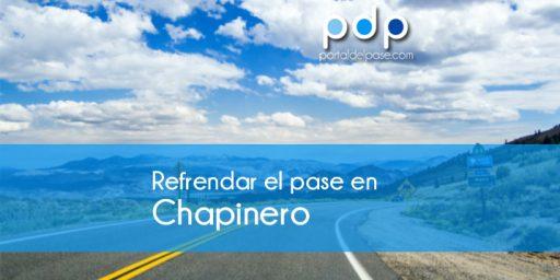 refrendar el pase en Chapinero