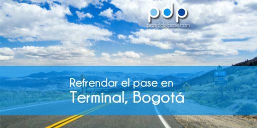 refrendar el pase en Terminal Bogotá