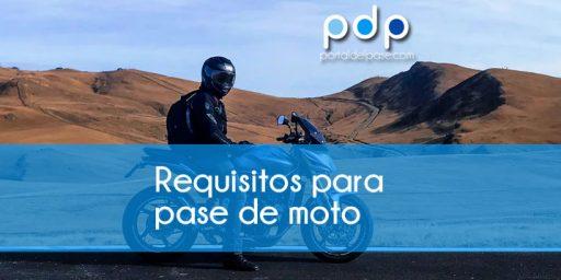 requisitos para el pase de moto